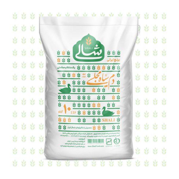 برنج دم سیاه مجلسی ده کیلویی شالی